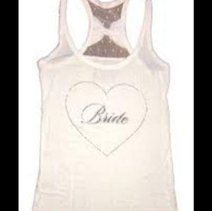 4/$25 Victoria's Secret I Do Bride Tank With Bow